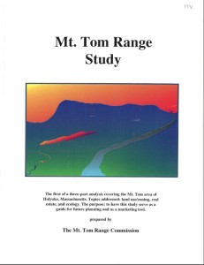 Mt. Tom Range Study, cover page